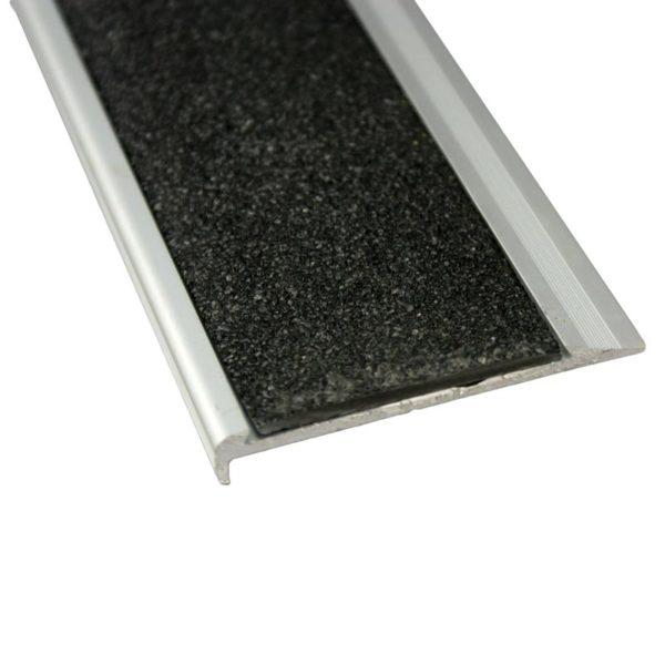 10mm x 71mm x 3620mm Aluminium Stair Nosing with Carborundum Insert