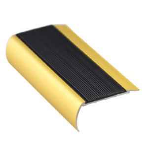 37mm x 75mm x 3620mm Gold Aluminium Nosing