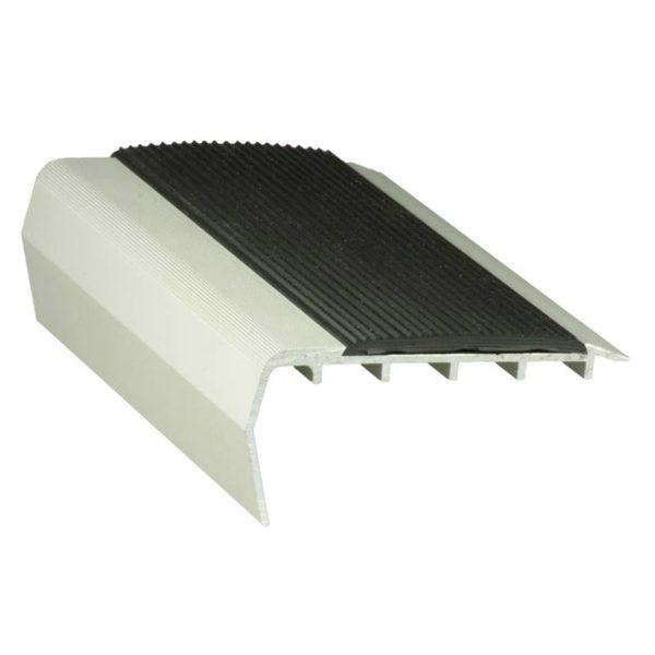 37mm x 75mm x 3620mm Aluminium Nosing - For high pile carpet